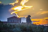 Italian Villa with Sunset - 208212553