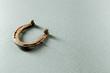 Leinwanddruck Bild - Old rusty horseshoe