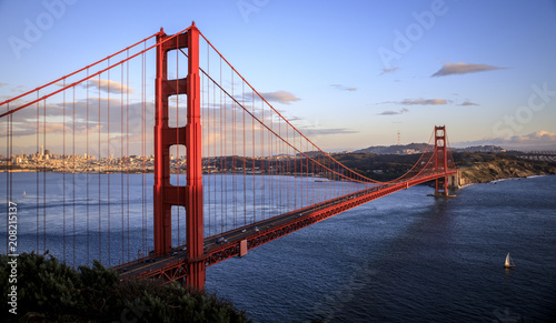 Fotobehang San Francisco Golden Gate sunset