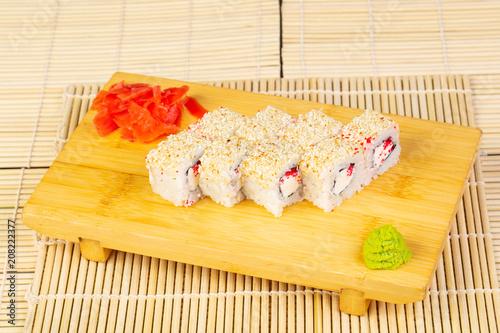 Aluminium Sushi bar Delcious Alaska rolls