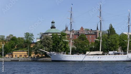 Fotobehang Stockholm Stockholm bateau