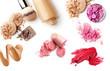 Leinwanddruck Bild - make-up cosmetics collection isolated on white background