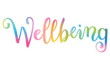 WELLBEING brush calligraphy banner - 208235539