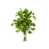 Bunch of fresh organic parsley  leaves on white background - 208236327
