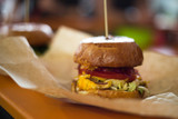 Fresh street food burgers real life photo - 208241932