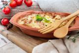 French Tartiflette Recipe Bacon, Potato and Reblochon Cheese Gratin - 208246354
