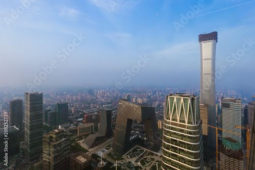 Plexiglas Peking Modern financial district skyline in Beijing China
