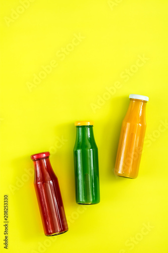 Aluminium Sap Beautiful food art background with juice and fruits
