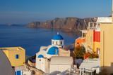 Fira. Traditional architecture of Santorini. - 208258107