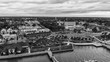 Panoramic aerial view of Saint Augustine at sunset, Florida - USA