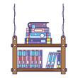 books education inside interior wood shelf - 208265986