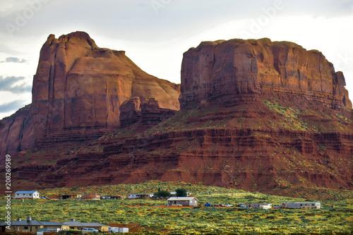 Fotobehang Diepbruine Monument Valley 8
