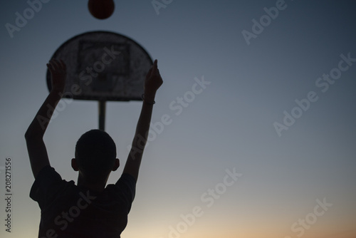 Fotobehang Basketbal Baller