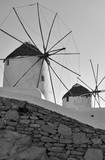 Greek windmills in Mykonos