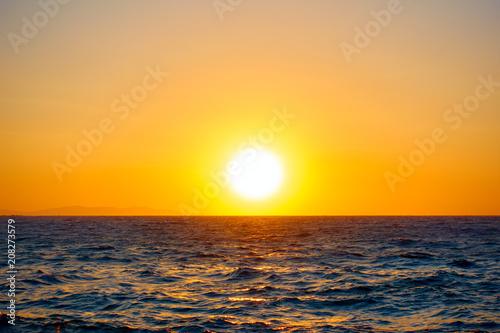 Fotobehang Zee zonsondergang Mediterranean sea - Sunset