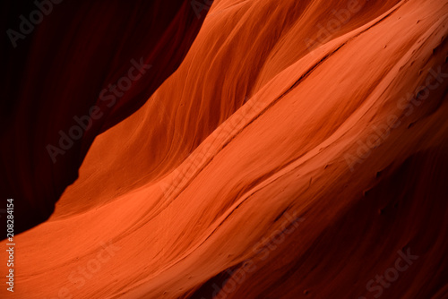 Fotobehang Rood Antelope canyon abstract