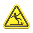 Wet floor sign yellow triangle with falling man 3D