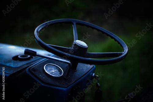Fotobehang Trekker Old farm tractor in Colombia