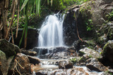 Waterfall in the forest phuket Thailand. Tropical zone