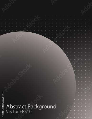 Fotobehang Abstractie Art Dark sphere vector background