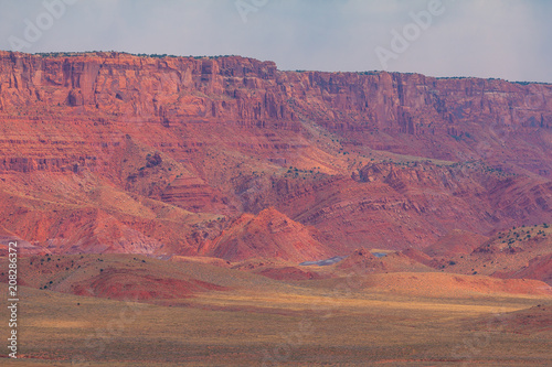 Fotobehang Arizona Area around Grand Canyon, in summer sunny day, formation in Colorado River.