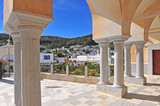 Cathedral columns and Lefkes old town - 208287560