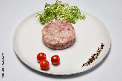 stuffed duck meat on a plate - 208288798