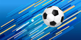 Soccer ball web banner for sport game event