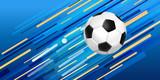 Soccer ball web banner for sport game event - 208292197