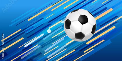 Soccer ball web banner for sport game event