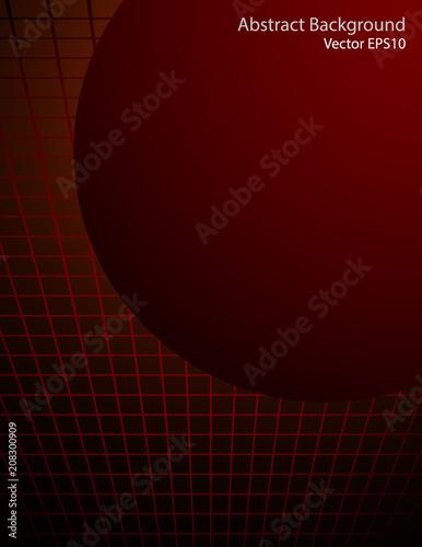 Fotobehang Abstractie Art Dark red sphere vector background