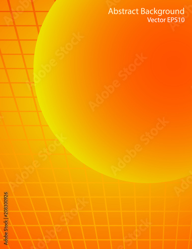 Fotobehang Abstractie Art Orange and red sphere vector background
