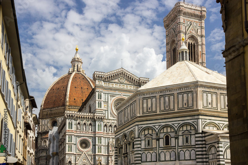Aluminium Florence cathedral in Florence in Tuscany