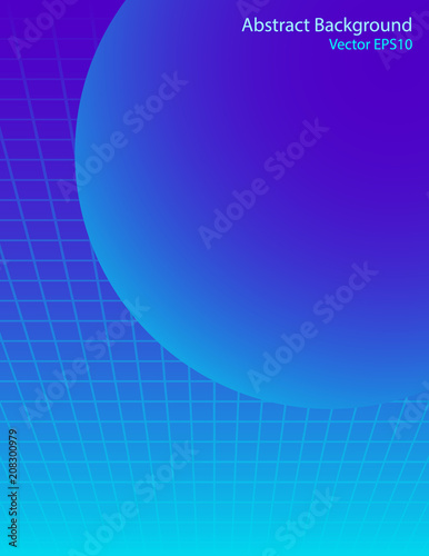 Canvas Abstractie Art Blue sphere vector background