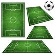 Leinwanddruck Bild - Fussballplätze
