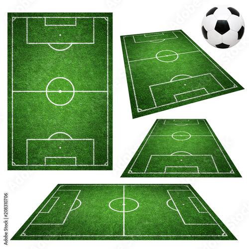 Leinwanddruck Bild Fussballplätze