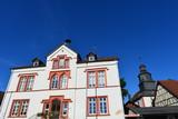 Rathaus und evangelische Kirche in Ranstadt Wetteraukreis