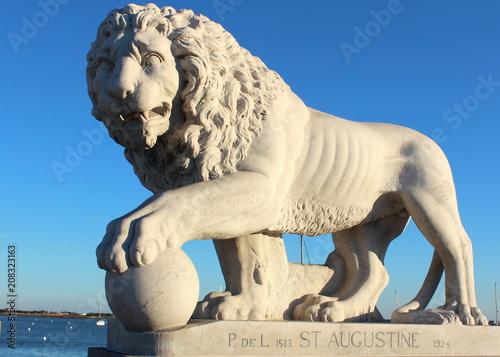 Fotobehang Lion Bridge of Lions Saint Augustine Florida
