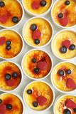 French dessert - creme brulee. Sweet caramelized custard. - 208325594