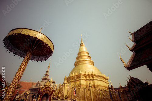 Fotobehang Thailand pagoda and buddhism in north Thailand