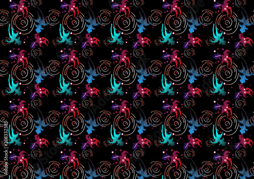 wave pattern background for fabric or textile - 208332385