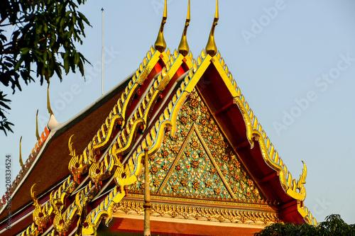 Fotobehang Bangkok Beautiful photo of Wat Pho Temple, Bangkok City taken in thailand