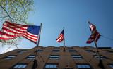 American flags, New York - 208336727