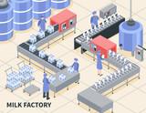 Milk Factory Illustration - 208354157