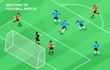 Sport Football Soccer Isometric