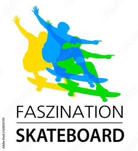 Fotobehang Skateboard Skateboard - 60