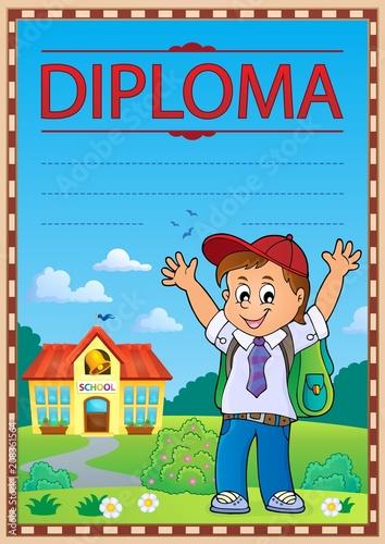 Canvas Voor kinderen Diploma template image 6