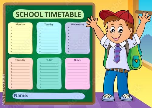Canvas Voor kinderen Weekly school timetable design 6