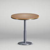 Round table with wooden plate - 208363799