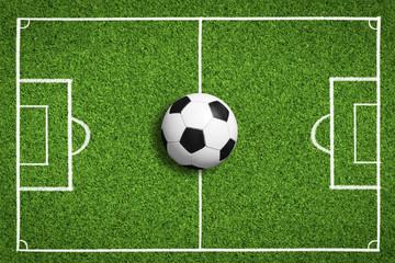 Fußball auf dem Rasen / Spielfeld